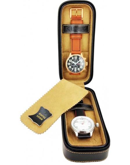 Kiber travelcase voor 2 horloges