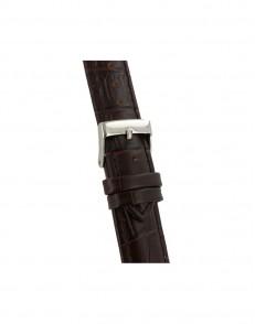 20mm Bruin croq print lederen horlogeband