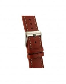 22mm Bruin / Ecru lederen horlogeband