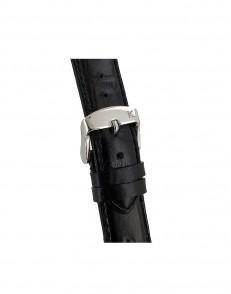 20mm Croq print zwart lederen horlogeband