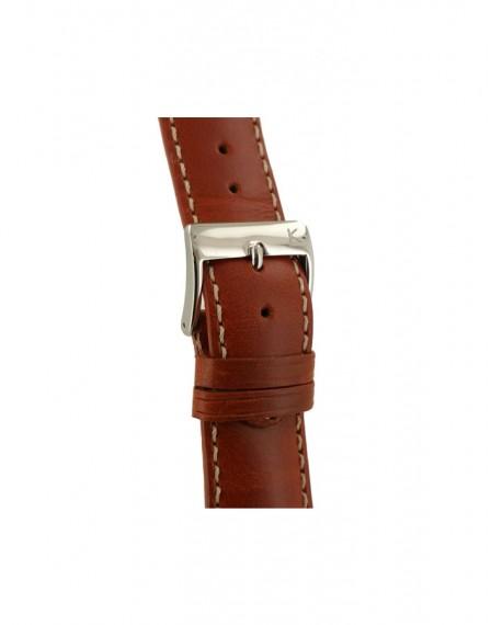 Kiber 22mm Cuio bruin lederen horlogeband