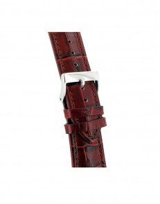 22mm Distinto croq print roodbruin lederen horlogeband