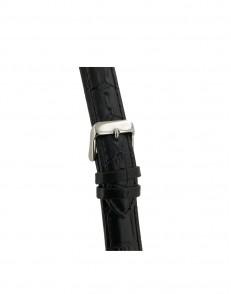 20mm Zwart croq print lederen horlogeband