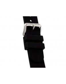 22mm Diver zwart rubberen horlogeband