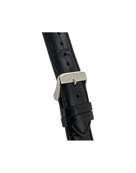 Kiber 22mm Iluma croq print zwart lederen horlogeband