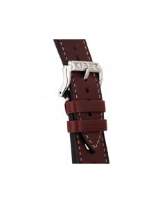 Kiber 24mm Race bruin / ecru lederen horlogeband