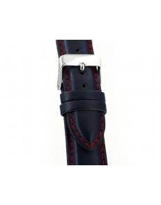 22mm Silverstone blauw lederen horlogeband